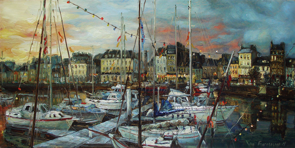 The artist Marina Podgaevskaya: picture Cherbourg. Panorama- canvas, oil
