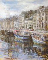 The artist Marina Podgaevskaya: picture Cherbourg. Morning - canvas, oil