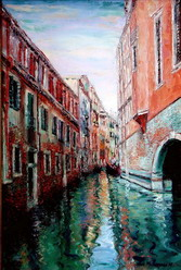 The artist Marina Podgaevskaya: picture Venice - canvas, oil