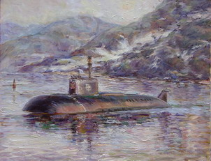 The artist Marina Podgaevskaya: picture In memory of atomic submarine