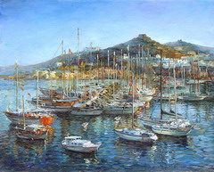 The artist Marina Podgaevskaya: picture Yachts. Day - canvas, oil
