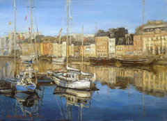 The artist Marina Podgaevskaya: picture Cherbourg. Boats - canvas, oil