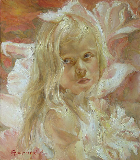The artist Marina Podgaevskaya: Diana's portrait - oils, canvas